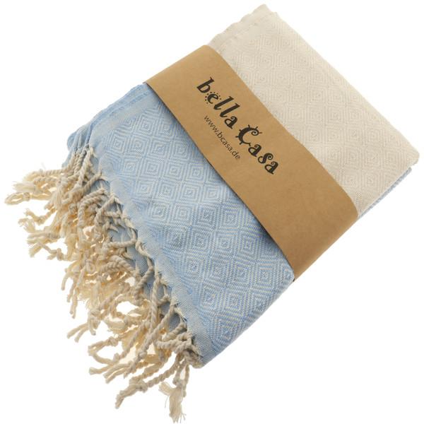 Hamam Bath Towel Elmas baby blue