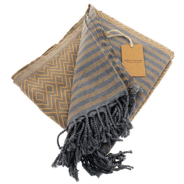 Hamam Bath Towel Kelim Lux braun