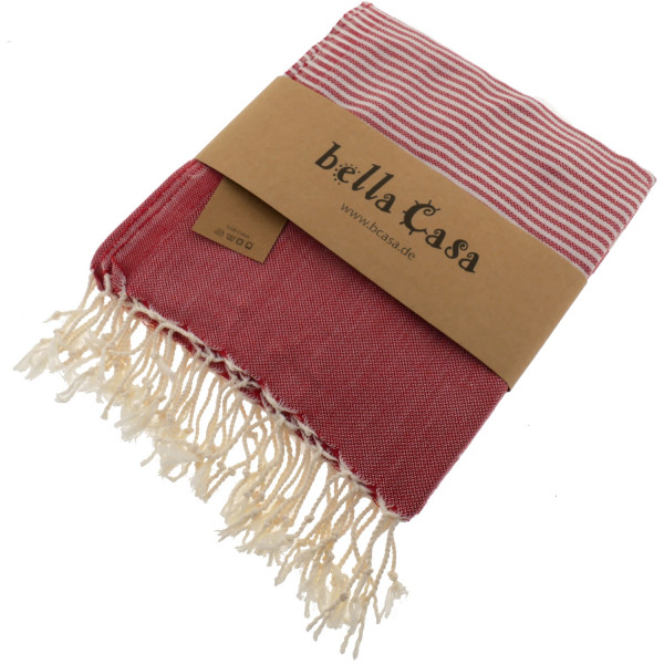 Hamam Bath Towel HERIKE summer red