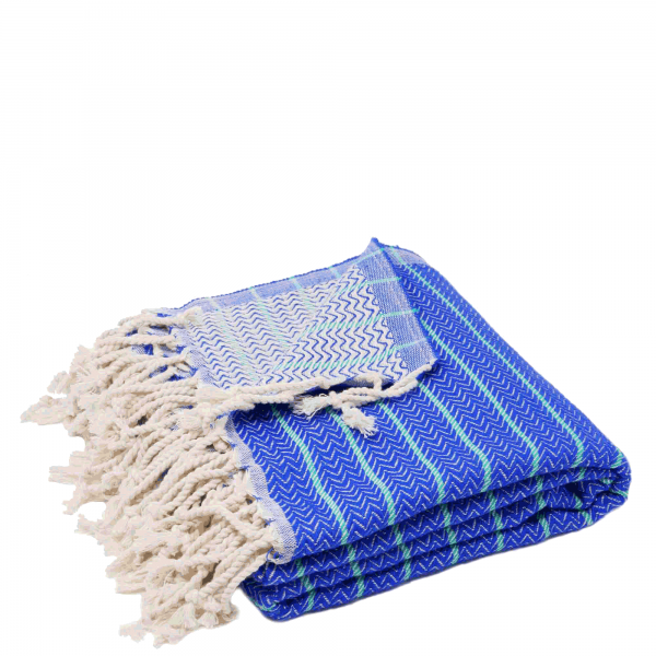 Hamam-Badetuch-ZigZag-Lux-blau