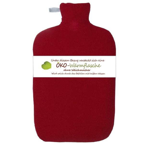 Oeko-Waermflasche-Softshell-rot
