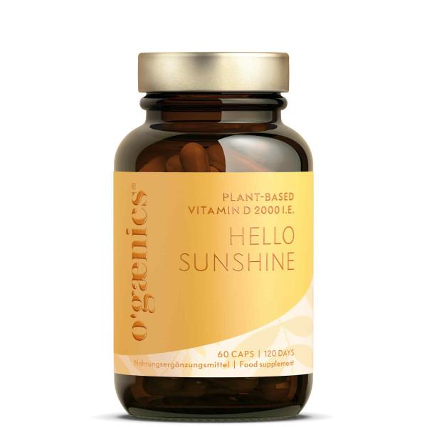 HELLO SUNSHINE Plant-based Vitamin D 2000 I.E. BIO, 60 Capsules