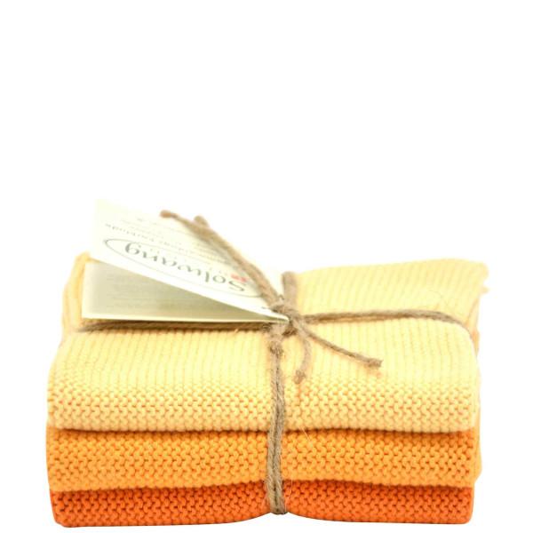 Wischtücher 3er Set, Verbrannt Orange