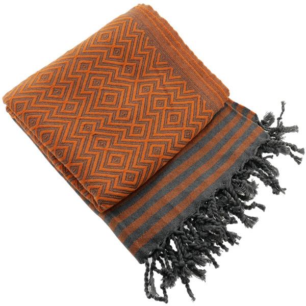 Serviette de bain Hamam Kelim Lux orange