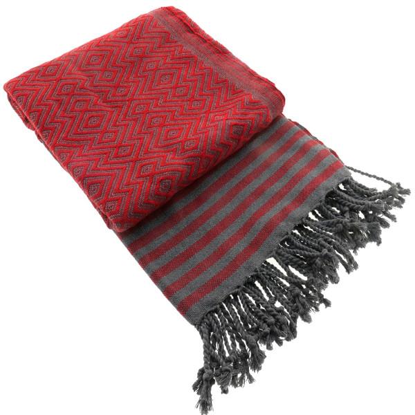 Serviette de bain Hamam Kelim Lux rouge