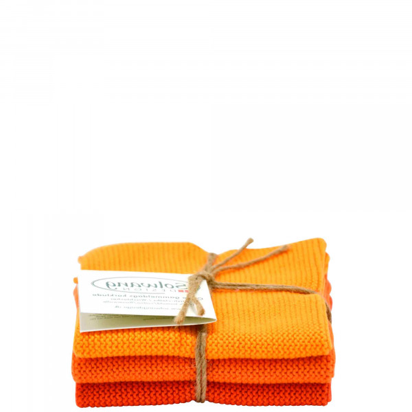 Lot de 3 lingettes, Orange Combi
