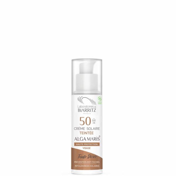 Crème solaire teintée dorée SPF 50, 50ml